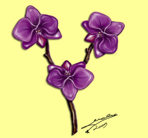 Orchide_madeby_Michiko